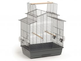 Vogelkooi Iza grijs-zwart