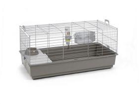 Cavia- en konijnenkooi Nero 100cm grijs