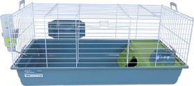 Cavia- en konijnenkooi Nero 100cm blue