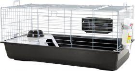 Cavia- en konijnenkooi Nero 100cm zwart